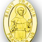 Gold over Sterling Silver Saint Francis Medal