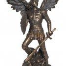 """Archangel Michael Statue, Cold-Cast Bronze, 9"""""""