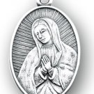 Round Sterling Silver Our Lady Of Guadalupe Medal