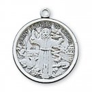 Sterling Silver Saint Francis Medal 18 inch Chain & Box