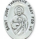 Sterling Silver Saint Jude Medal 24 inch Chain & Box