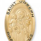 Gold over Sterling Silver Saint Joseph Medal 24 inch Chain & Box
