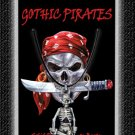 Gothic Pirate Necklace Skull Pirate