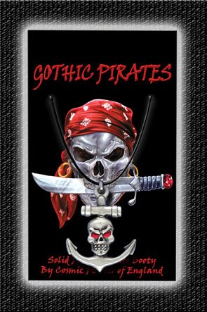 Gothic Pirate Necklace Skull & Anchor