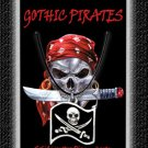 Gothic Pirate Necklace Jack Rackham Flag