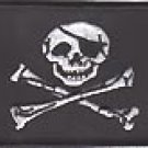 Jolly Roger Patch White with black outline
