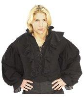 Black Pirate Shirt X-Large (fits 44-46 jacket size)