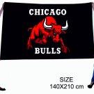 Flag for fans of basketball club Chicago Bulls size 140х210 cm NEW !!!