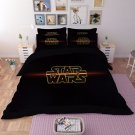 4 pcs QUEEN Size 3D Star Wars #17 Bedding Set Duvet Cover Flat Sheet