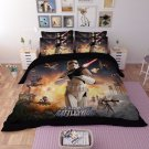4 pcs 3D Star Wars BattleFront KING Size #01 Bedding Set Duvet Cover Flat Sheet