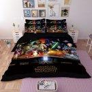 4PCS QUEEN Size Star Wars #04 Bedding Set Duvet Cover Flat Sheet 4 pcs