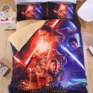 #07 QUEEN Size 4PCS Star Wars Bedding Set Duvet Cover Flat Sheet