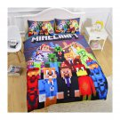 Queen 3pcs Minecraft Mining #118 Bedding Set Duvet Cover Queen Size