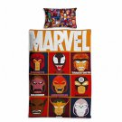 Marvel Avengers #53 Quilt Set Duvet Cover Pillow Case Bedding set Single