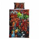 Marvel Avengers #59 Quilt Set Duvet Cover Pillow Case Bedding set Single