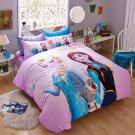 4pcs Queen SIze Elsa The Snow #31 Bedding Set Duvet Cover