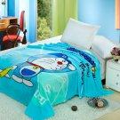 Doraemon Cartoon #05 fleece blankets 150*200cm Warm Sheet Flat Bedsheet For Kids