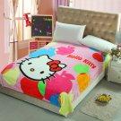 Hello Kitty #06 fleece blankets 150*200cm Warm Sheet Flat Bedsheet For Kids