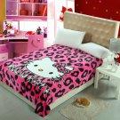 150*200cm Hello Kitty #07 fleece blankets  Warm Sheet Flat Bedsheet For Kids