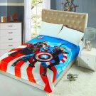 Marvel Avengers fleece blankets 150*200cm Warm Sheet Flat Bedsheet For Kids