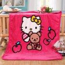 Hello Kitty #11 fleece blankets 100*140cm fleece sleeping throw