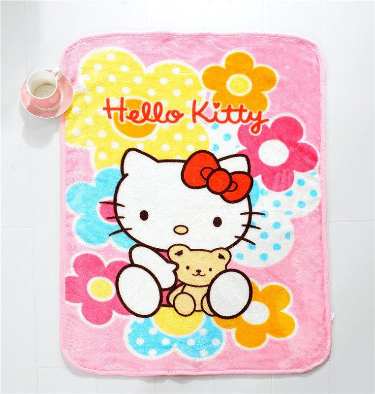 Hello Kitty #14 fleece blankets 100*140cm fleece sleeping throw