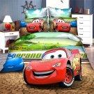 Twin Size 3pcs Lightning McQueen bedding set duvet cover bed sheet pillow cases