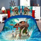 Twin Size 3pcs Disney Moana bedding set duvet cover bed sheet pillow cases