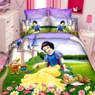 Twin Size 3pcs Snow White Cartoon bedding set duvet cover bed sheet pillow cases