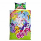 2pcs My Little Pony Single Quilt Sets Duvet Cover Pillow Case Kids Bedding Sets
