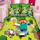 Full Size 3pcs Minecraft Cartoon bedding set duvet cover bed sheet pillow cases