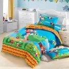 twin Size Super Mario Cartoon bedding set duvet cover bed sheet pillow cases