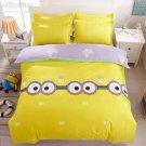 Twin Size 3pcs Minion #01 bedding set duvet cover flat sheet pillow cases