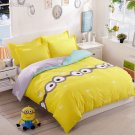 King Size 4pcs Minion #01 bedding set duvet cover flat sheet pillow cases