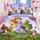 Twin Size 3pcs Sofia the First #01 bedding set duvet cover bed sheet pillow cases