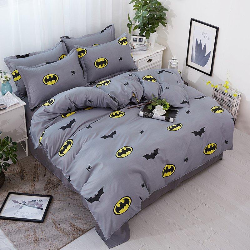Queen Size 3pcs Batman #02 Cartoon Design Bedding Set Duvet Cover