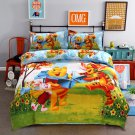 Twin Size 3pcs Winnie the Pooh #01 bedding set duvet cover bed sheet pillow cases