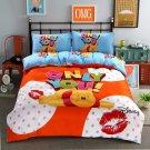 Queen Size 4pcs Minion #03 bedding set duvet cover flat sheet pillow cases