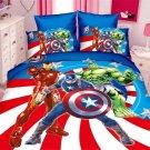 Single Size 2pcs Captain America Iron Man #02 bedding set duvet cover bed sheet pillow cases
