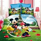 Single Size 3pcs Mickey Minnie Mouse Donald Duck #14 bedding set duvet cover pillow cases