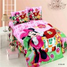 Twin Size 3pcs Mickey Minnie Mouse Donald Duck #11 bedding set duvet cover flat sheet pillow cases