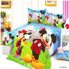 twin Size 4pcs Mickey Minnie Mouse Donald Duck #10 bedding set duvet cover flat sheet  pillow cases