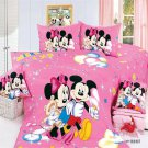 twin Size 4pcs Mickey Minnie Mouse Donald Duck #16 bedding set duvet cover Flat sheet pillow cases