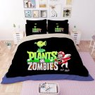 #03 Queen Size 3pcs Plants vs. Zombies  game bedding set duvet bed sheet cover pillow cases
