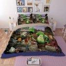 #04 Queen Size 3pcs Plants vs. Zombies game bedding set duvet bed sheet cover pillow cases
