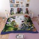 #07 Queen Size 3 pcs Plants vs. Zombies game bedding set duvet bed sheet cover pillow cases