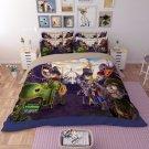 #01 King Size 3pcs Plants vs. Zombies game bedding set duvet bed sheet cover pillow cases