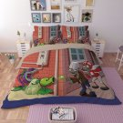 #02 King Size 3 pcs Plants vs. Zombies game bedding set duvet bed sheet cover pillow cases