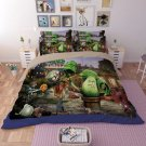 #04 king Size 3pcs Plants vs. Zombies game bedding set duvet bed sheet cover pillow cases