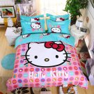 Twin Size 3pcs Hello Kitty New Design #04 bedding set duvet cover pillow cases